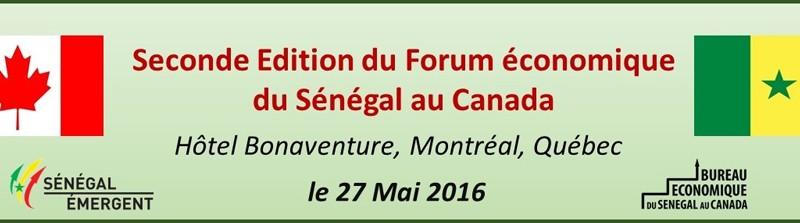 Forum economique senegal canada